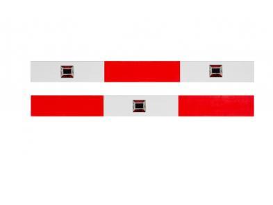 Aluminium koker met enkelzijdige rood/wit reflectie signalering