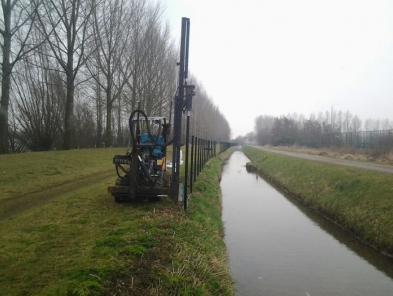 Hekwerk montage in Nederland